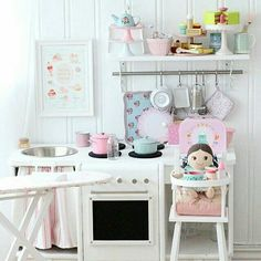 There are a few things you should know before you build a playhouse for kids. Playhouse Interior, Diy Playhouse, Girls Playhouse, Cubby Houses, Play Houses, Play Spaces, Kid Spaces, Kids Play Kitchen, Wendy House