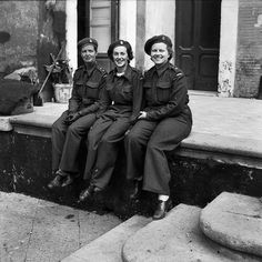 Nursing sisters of No.14 Canadian General Hospital, Royal Canadian Army Medical Corps (R.C.A.M.C.), who survived the sinking of S.S. SANTA ELENA landing at Naples, Italy, 8 November 1943. Photographer: Frank Royal. Library and Archives Canada MIKAN 3395934