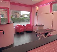 ha if I could have my own salon, this is exactly what it would look like--right from Barbie's world