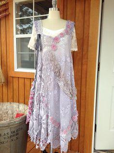 Luv Lucy Crochet Dress Signs of Spring boho von LuvLucyArtToWear