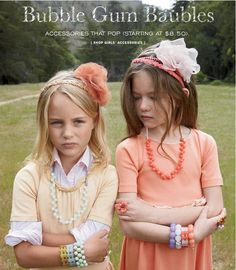 J Crew crewcuts headbands and bubble gum bauble necklaces