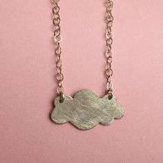 Black Friday - Cyber Monday Etsy Sale Cloud Necklace With Chain in Sterling Silver.