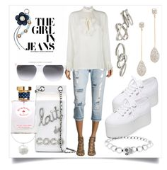 """""""Girl In Boyfriend..**"""" by yagna ❤ liked on Polyvore featuring Miss Me, Gucci, Chanel, Alexis Bittar, Kendra Scott, Superga, Alexander McQueen, Brooks Brothers and vintage"""