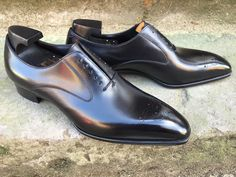 Bespoke-England — Gaziano & Girling Strand in Black Calf on the Deco Last