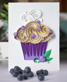 On the way to my favorite place in the world — Maine! Home of lobsters, lighthouses, and BLUEBERRIES! Quilling Cake, Arte Quilling, Paper Quilling Cards, Quilling Work, Paper Quilling Patterns, Quilled Paper Art, Paper Origami Flowers, Paper Crafts Origami, Paper Quilling For Beginners