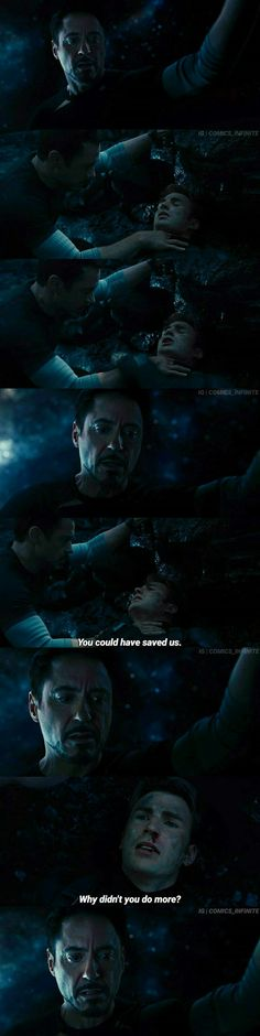 This part breaks my heart cause all he was trying to do was save his friends and also the first thing he did was go to check if Steve was still alive and the heartbreak that you can see in his face just destroys me.