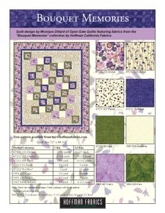 Bouquet Memories FREE quilt pattern at HoffmanFabrics.com.
