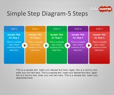 Freeprocess diagram for PowerPoint presentations contains a simple step by step process diagram with arrows that you can use in PPT presentations or slide designs.