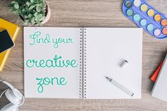 'Finding Your Creative Zone...!' (via Create Mess)