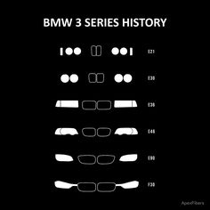 BMW 3 Series history, 1982-Present day (E30, E36, E46, E90, F30). #bmw #E30 #E36 #E46 #E90 #F30 #bavaria #german #automobile #automotive #car #curves #headlights #nose #performance #transportation #instagood #picoftheday #photooftheday #augsburg #munich #muc #münchen #stuttgart