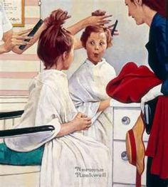 """First Time at the Beauty Parlor (1972) Norman Rockwell Fans – Exciting News! Buddy Edgerton's book, """"The Unknown Rockwell"""" is being made into a major motion picture titled, """"Our Neighbor, Norman."""" Jump onto our Facebook page, """"Our Neighbor Norman"""" for all of the details! YOU TOO can be part of bringing this incredible movie to the big screen!"""