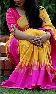 5742d9f7f0f Clothsfab Women s Bhagalpuri Silk Ready Pleated Sarees With Blouse Piece  (Palluuu
