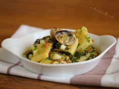 Calamarata pesce e zucchine Calamari, Pasta, Potato Salad, Potatoes, Estate, Breakfast, Ethnic Recipes, Food, Morning Coffee