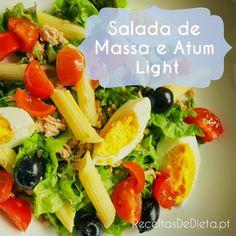 Receitas de Dieta: Salada Diet de Massa e Atum