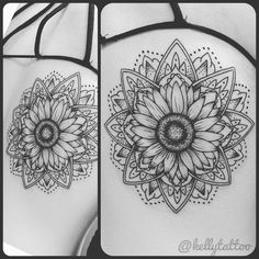 Love the flower in the middle and the simple fine outlines
