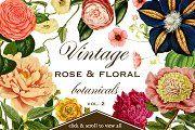 Vintage Rose & Floral Botanicals 2  - Objects - 1