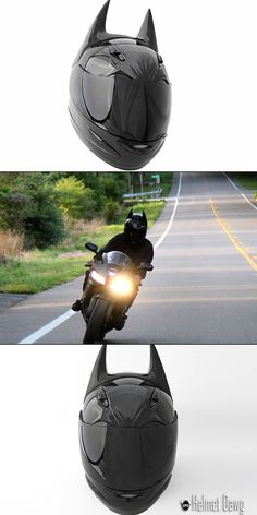 The motorcycle riders among you with a special hankering for all things Batman will surely get a kick out of the above helmet. It's made by HelmetDawg and is fully DOT certified, meaning you can don it on your bike while still safe in the knowledge that at least your head will come out of an accident somewhat intact.