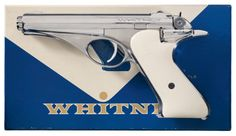 Whitney Firearms Co. Wolverine Semi-Automatic Pistol with Original Box Auctions Online Ninja Weapons, Gun Art, Guns And Ammo, Rockets, Wolverine, Firearms, Arsenal, Hand Guns, Auction