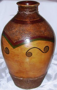 Clay Art Projects, Painted Pots, Paper Jewelry, Gourd Art, Pottery Painting, Flower Vases, Decoupage, Asian Art, Glass Art