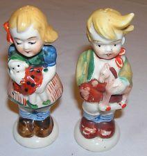 Vintage Boy & Girl Hummel like Salt & Pepper Made in Occupied Japan
