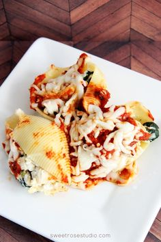 Chicken and Spinach Stuffed Shells at Sweet Rose Studio