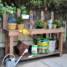 Make your own potting bench! (via Centsational Girl)