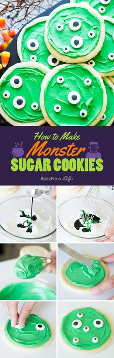 How To Make Your Sugar Cookies Look Like Adorable Monsters