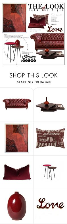 Trend Color Oxblood by cruzeirodotejo on Polyvore featuring interior, interiors, interior design, home, home decor, interior decorating, a&R, Park B. Smith, Emissary and Home