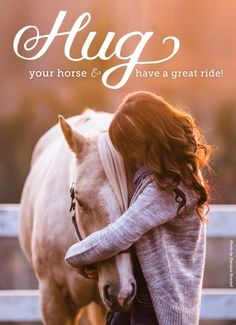 Have you hugged your horse today?