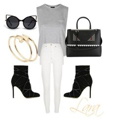 """""""Casual """" by lahraog on Polyvore featuring Topshop, River Island, Fendi, Gianvito Rossi, ZooShoo and Cartier"""