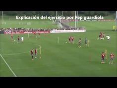 Cómo Entrena Pep Guardiola los Desmarques de Apoyo - YouTube