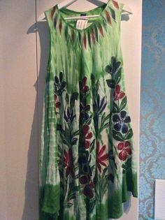 1 Kleid aus Indien Nepal Hippie Goa Einzelstueck handgemacht Batik Nr.7