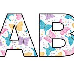 Litery i cyfry z motywami na pory roku do tworzenia napisów do druku Symbols, Letters, Icons, Fonts, Letter