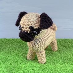 PDF AmiDogs Pug amigurumi dog CROCHET PATTERN by PlanetJune