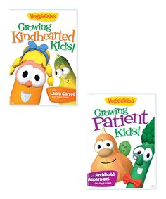 This VeggieTales: Growing Kindhearted & Patient Kids DVD Set by VeggieTales is perfect! #zulilyfinds