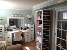 Maggie's Makeup Storage room....her hubby put it together for her....let me just say for the record if Phil did this for me he would be getting lucky everyday and night