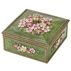 Victorian Violets Treasure Box Altered Boxes, Altered Art, Victorian Home Decor, Victorian Era, Sweet Violets, Woodworking Box, Antique Boxes, Pretty Box, Tin Boxes