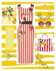 So summer :) by ollohuligan on Polyvore featuring Dolce&Gabbana, Casadei and Alexander McQueen