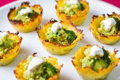 potatoes with brocoli Snack Recipes, Snacks, Main Meals, Tasty Dishes, Ricotta, Guacamole, Baked Potato, Sushi, Potatoes