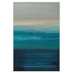 Create an artful focal point in the living room or master suite with this eye-catching canvas print, featuring an ocean-inspired motif.