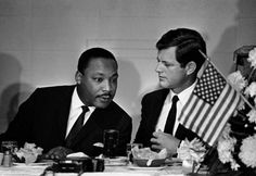 Ted Kennedy with Dr Martin Luther King Jr
