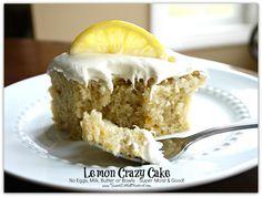 Lemon Crazy/Wacky Cake (also know as Depression Cake) No Eggs, Milk, Butter or Bowls! Super Moist & Good!