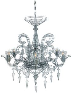 Biju french wire chandelier house ware pinterest chandeliers forestier gloria wire chandelier aloadofball