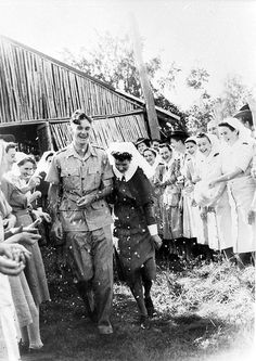 H. Woodhead and M. Timbs on their wedding day, 1943 by Australian War Memorial collection, via Flickr