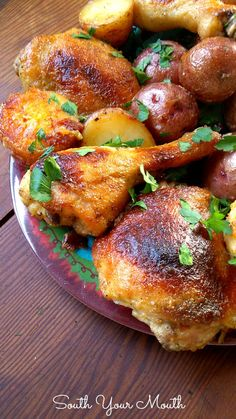 Buttermilk Ranch Roasted Chicken with Potatoes by South Your Mouth #saucesome