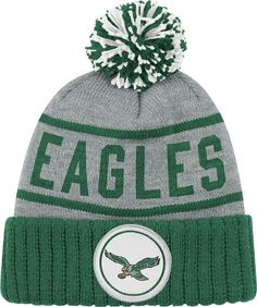 Philadelphia Eagles NFL Mitchell & Ness The High 5 Vintage Cuffed Premium Knit Hat
