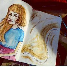 Crie um desenho com um fio (ou vários) de seu cabelo. Destrua este diário.