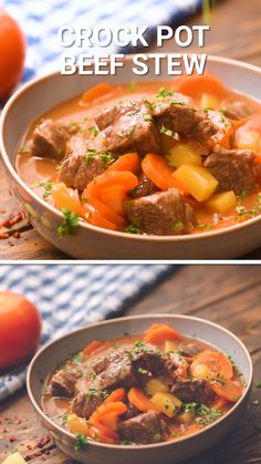 Beef Stew is a hearty, delicious dinner recipe that is made in your Crock Pot. A blend of tender stew meat, carrots and potatoes that will warm you up on a cold winter night. Make this hearty stew recipe for a quick and easy dinner during the winter! Stew Meat Recipes Quick, Hearty Stew Recipe, Easy Beef Stew, Stew Chicken Recipe, Best Dinner Recipes, Chicken Pasta Recipes, Beef Recipes, Hawaiian Beef Stew Recipe, Quick Crock Pot Recipes