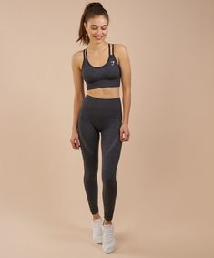 2fea9a7672f7a2 gymshark high waisted seamless leggings size xs in black marl Sporty  Outfits, New Outfits,