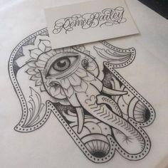 Cool Dotwork Elephant Hamsa Tattoo Design Source by Hamsa Hand Tattoo, Hand Tattoos, Ganesha Tattoo Lotus, Hamsa Tattoo Design, Elephant Tattoo Design, Yoga Tattoos, Elephant Tattoos, Mandala Tattoo, Cute Tattoos